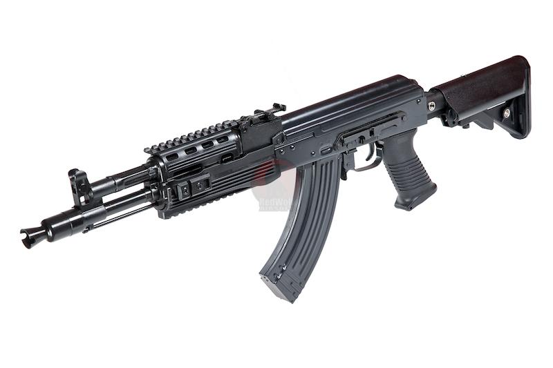 Страйкбольный автомат E&L Airsoft AK104PMC-B Full Steel AEG