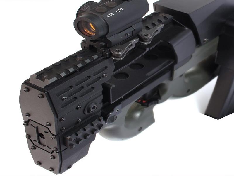 Агрессивное-цевье-с-RIS-планками-Nitro.Vo-P90-Armored-Rail-System-от-Laylax-для-приводов-TM-P90.2