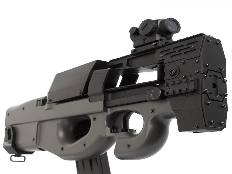 Агрессивное-цевье-с-RIS-планками-Nitro.Vo-P90-Armored-Rail-System-от-Laylax-для-приводов-TM-P90.3