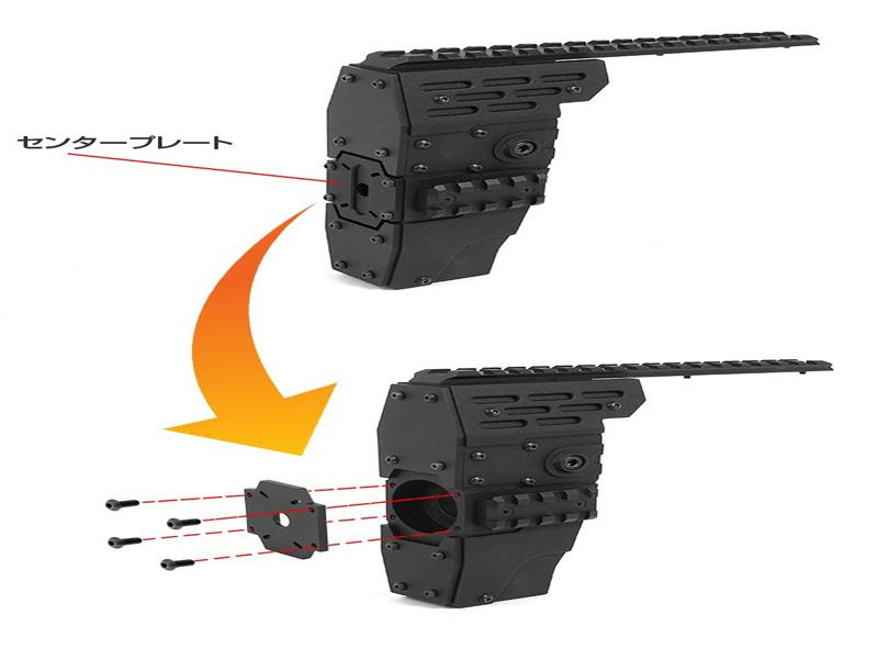 Агрессивное-цевье-с-RIS-планками-Nitro.Vo-P90-Armored-Rail-System-от-Laylax-для-приводов-TM-P90.5