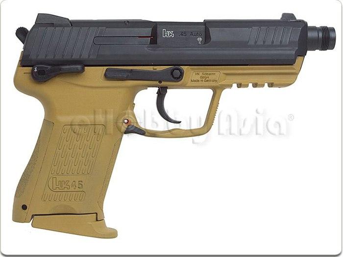 Страйкбольный GBB пистолет HK45CT Navy Seal RAL 8000